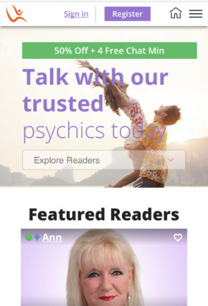 Life Reader's mobile home page