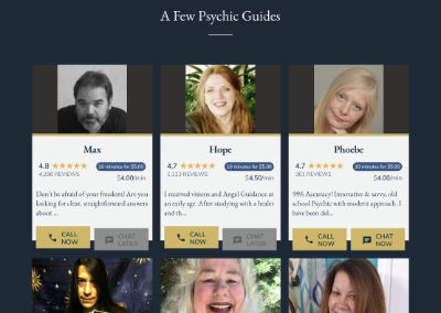 PsychicCenter Desktop Site
